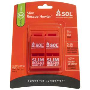 Adventure Medical Kits Slim Rescue Howler Whistle Camping Essentials