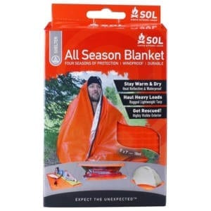 SOL All-Season Waterproof and Windproof Blanket Camping Gear