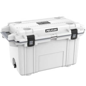 Pelican Elite White/Gray 70 Quart Cooler Camping Gear