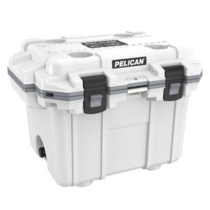 Pelican Elite 30 Quart White Cooler Camping Gear