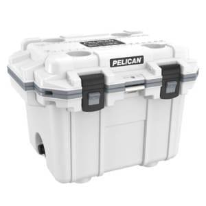 Pelican Elite 30 Quart White Cooler Camping Essentials