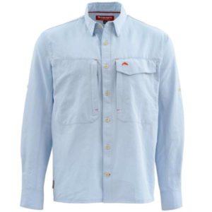 Simms Guide Fishing Long Sleeve Marl Shirt – Light Blue Clothing