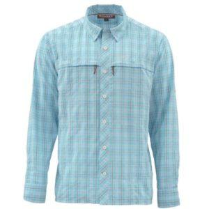 Simms Stone Cold LS Shirt – Teal Plaid Clothing