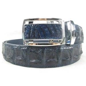 Genuine Crocodile Hornback Skin Leather Belt with Adjustable Buckle Belts