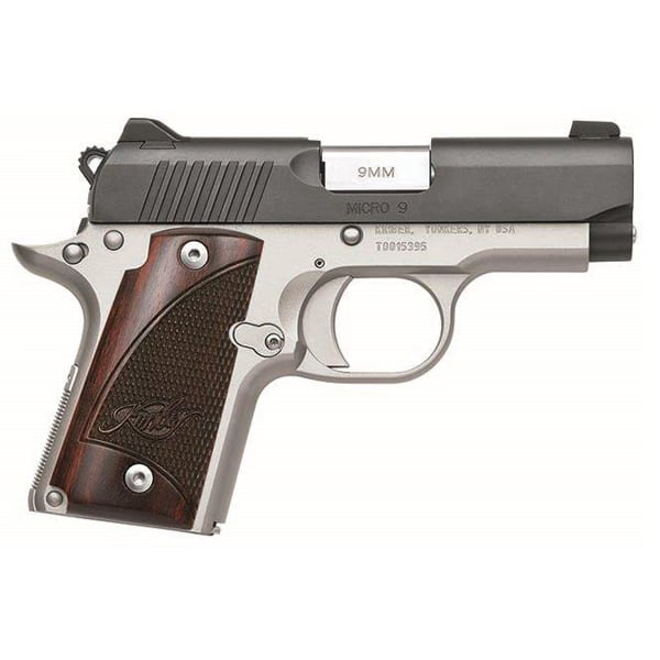 Kimber Micro 9 Rosewood Two-Tone 9mm 3.15″ Handgun Firearms