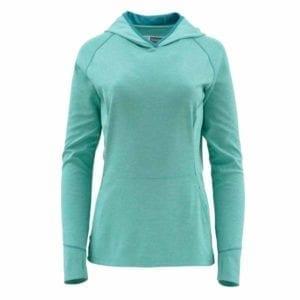 Simms Women's BugStopper Hoody, Aqua Clothing