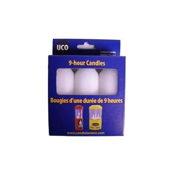 9+ Hour Candles 3 pack Camping Gear