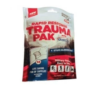 Adventure Medical Rapid Response Trauma Pak W/QuikClot Camping Gear