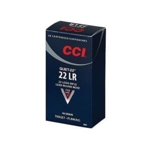 CCI Quiet-22 .22LR 40GR Lead Round Nose Ammunition