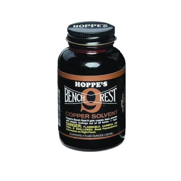Hoppe's Bench Rest #9 Copper Solvent 4oz Gun Cleaning & Supplies