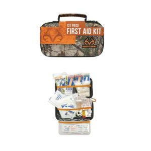 Realtree Deluxe Hard-Shell Foam First Aid Kit Camping Essentials