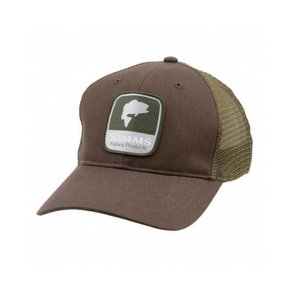 Bass Patch Trucker Honey Brown Caps & Hats
