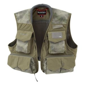 SIMMS Freestone Fishing Vest Hex Camo, Loden Fishing