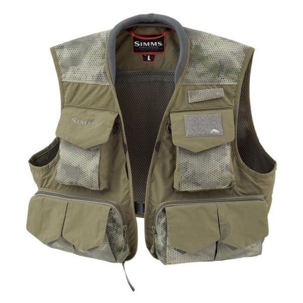 SIMMS Freestone Fishing Vest Hex Camo, Loden Fishing