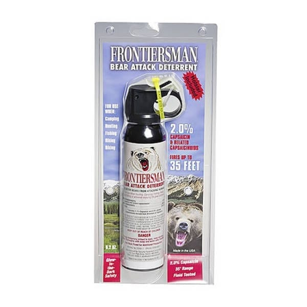 Sabre Frontiersman Bear Attack Deterrent 9.2 Ounce w/Holster Camping Gear