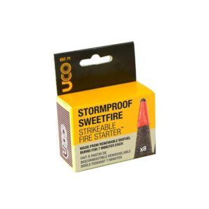 Stormproof Sweetfire Strikeable Firestarter 8 Pack Camping Gear