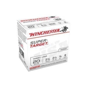 Winchester Super Target  20 Gauge 2 3/4 in 7/8 oz #8 Lead Shot 20 Gauge
