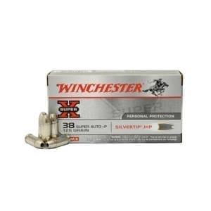 Winchester Super-X .38 Super 125 Grain Silvertip Hollow Point .38 Super Auto +P