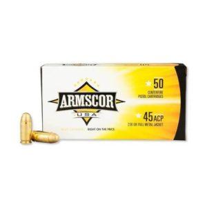 Armscor .45 ACP 230 Grain FMJ – 50 Rds .45 ACP