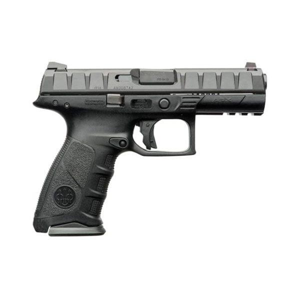 Beretta APX 9MM 4.25″ 17+1 Black Interchangeable Backstrap Grip Firearms
