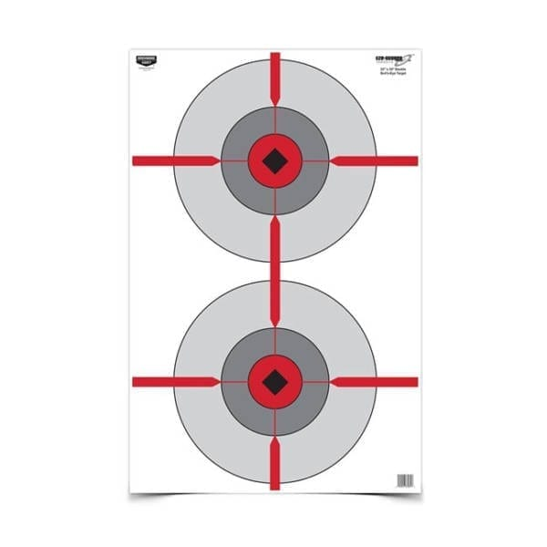 23″x35″ Double Bull's Eye Targ Firearm Accessories