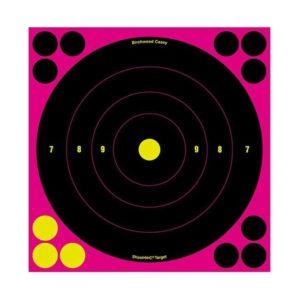 Birchwood Casey Shoot-N-C 8″ Pink Bullseye Target 6 Pack Firearm Accessories