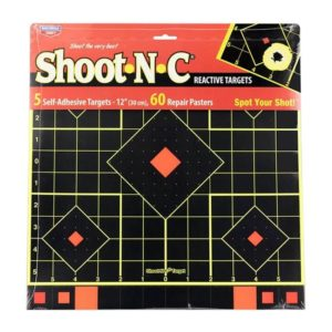 "Birchwood Casey 12"" Sight-In Target Shoot-N-C 5 Pack"