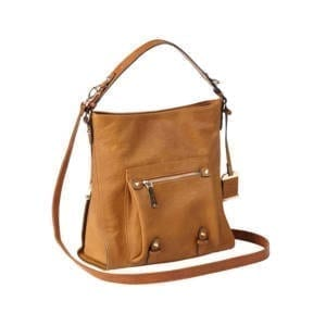 Bulldog Hobo Style Brown Leather Purse
