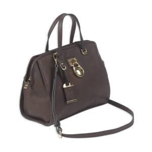 Bulldog Satchel Series Concealed Carry Purse, Chocolate Brown