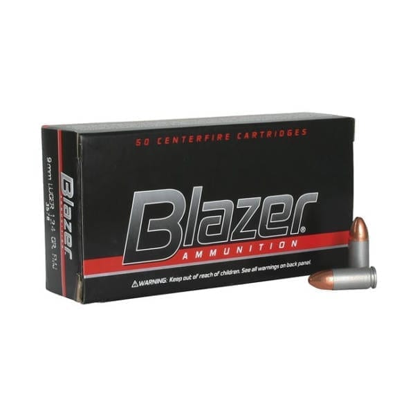 CCI Ammunition Blazer 9mm 124GR FMJ Rounds 9MM
