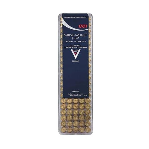 CCI Varmint .22LR 36 Grain Hollow Point Rounds .22 LR