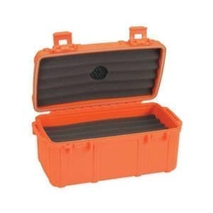 Cigar Caddy 15 Count Orange Cigar Humidor Cigars