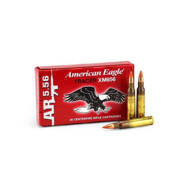 Federal American Eagle 5.56 Caliber 64 Grain Tracer Rounds