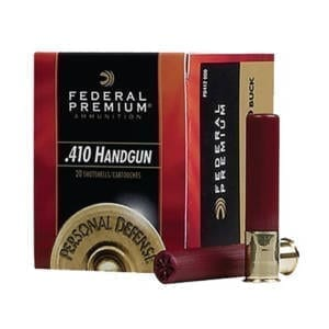 Federal Premium .410 Gauge 000 Buckshot Handgun Rounds .410 Bore