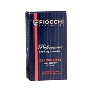 Fiocchi Shooting Dynamics .22LR 38GR High Velocity (Single Box) Ammunition