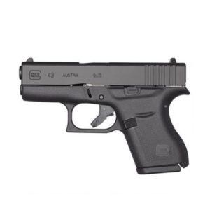 GLOCK 43 9MM Semi-Auto Pistol, 3.39″ Barrel 6 Rounds Firearms