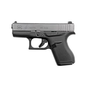 Glock G42 .380 ACP 3.25″ 6+1 FS Poly Grip/Frame Black Firearms