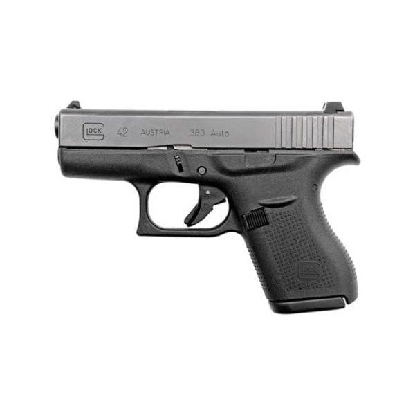 Glock G42 .380 ACP 3.25″ 6+1 FS Poly Grip/Frame Black Firearms