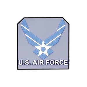 G.P.S. Air Force Rubber Medallion 2pk