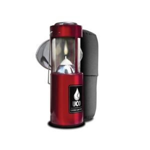Industrial Revolution Original Candle Lantern Kit, Red Camping Essentials