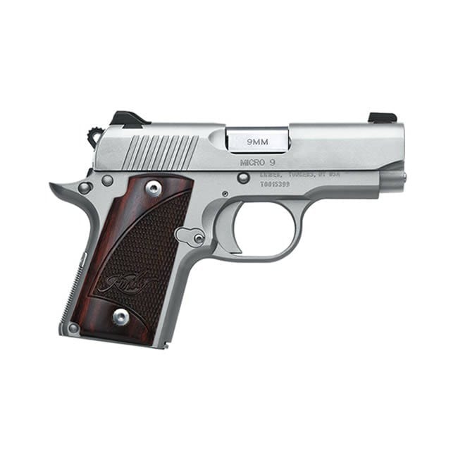 Kimber 9mm Micro 9 Stainless Tfx Pr: Kimber Micro 9 Stainless 9mm Luger With Rosewood Grips