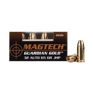 MagTech Guardian Gold .32 ACP 65 Grain Jacketed Hollow Point Rounds .32 ACP
