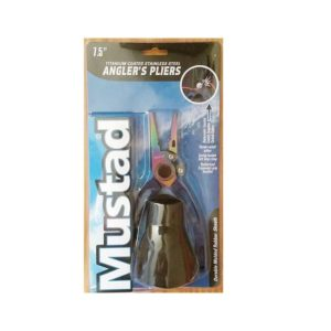 "Mustad 7.5"" Stainless Steel Pliers with Rubber Holster Fishing"
