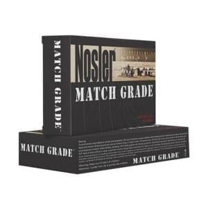 Nosler Match Grade 9mm 124 Grain Hollow Point Rounds 9MM +P