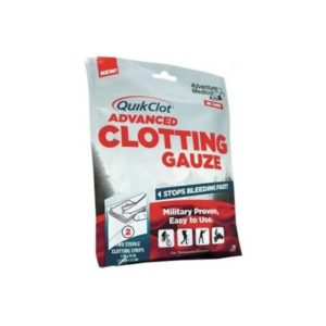 QuikClot Advanced Clotting Gauze 3 x 24 Inch 2ea Camping Gear