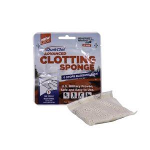 QuikClot Advanced Clotting Sponge 3.5 x 3.5 Inch Camping Gear