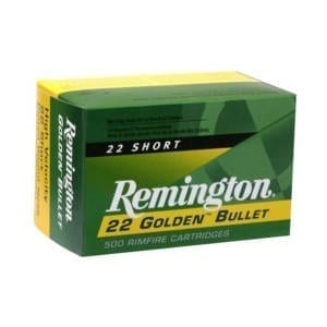Remington 22 Short 29GR Round Nose Rounds