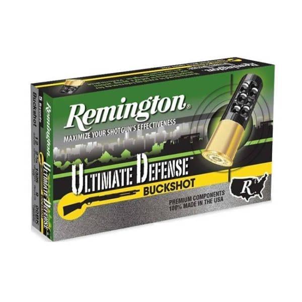 Remington Ammunition Ultimate Defense 12 Gauge Buckshot Rounds 12 Gauge