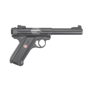 Ruger Mark IV Target .22LR Syn Black Checkered Grip Grips Firearms