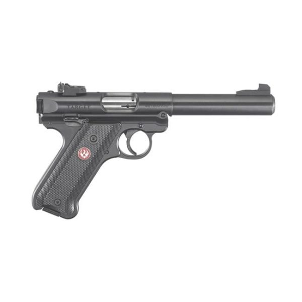 Ruger Mark IV Target .22LR Syn Black Checkered Grip Grips Firearms
